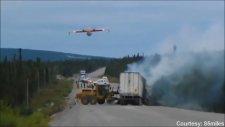 Yakın Çekimde Yangın Söndürme Uçağı