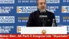 Bakan Eker, AK Parti İl Kongresinde Diyarbakır Şiirini Okudu