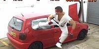 Ryu Gerçek Hayatta Da Araba Parçalıyor