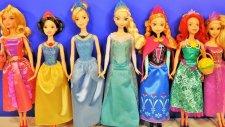 Disney Prensesler Anna Elsa Rapunzel Sindirella Pamuk Prenses Ariel Aurora Barbie oyuncak bebek