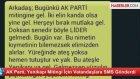 AKP Yenikapı Mitingi için Gönderilen Mesaj