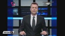 Flash TV Haber Spikerinin Başından Aşağı Buzlu Su Dökmesi