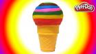 Oyun Hamuru Gökkuşağı Dondurma Yapımı