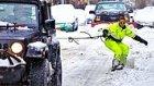 New York Sokaklarında Snowboard Yapan Çılgın