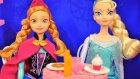 Karlar Kraliçesi Elsa ve Prenses Anna Barbie Malibu Cafede - EvcilikTV Oyuncak Oyunları