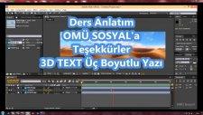 After Effects 3D Text Üç Boyutlu Dönen Yazı Hareketli Arka Plan ve Render Çıktı Almak