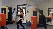 İnanılmaz Hareket! Dövüşçü Kadından Müthiş Şov