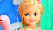 Barbie oyuncak bebek - Chelsea havuz keyfi - EvcilikTV çocuk oyunları videoları