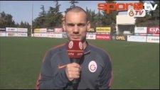 Sneijder Haginin doğum gününü kutladı