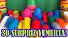 Oyun Hamuru 30 Sürpriz Yumurta Oyuncak Araba Açımı