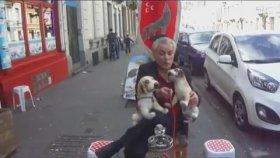 Sokak Ortasında Nargile Keyfi Yapan Gurbetçi