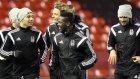 Beşiktaş'ın Anfield Road'da yaptığı antrenmandan görüntüler