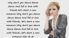 Alexandra stan - Dance (lyrics)