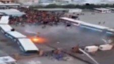 Altay-Göztepe maçında çıkan olaylar