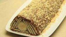 Muzlu Piramit Pasta Tarifi - Çikolatalı Bisküvili Yaş Pasta