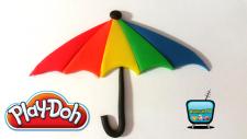 Play Doh Oyun Hamuru ile Şemsiye Yapımı