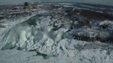 Donmuş Niagara Şelalesi'nden Muhteşem Görüntüler