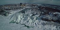 Donmuş Niagara Şelalesinin Muhteşem Görüntüsü