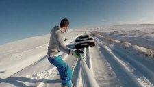 Lamborghini İle Snowboard Keyfi