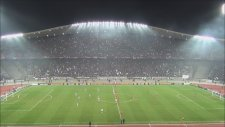 Beşiktaş Liverpool Santrayla Üçlü (Tribün Çekimi)