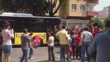 Kazlıçeşme Mitingine Giden Belediye Otobüslerini Durdurmak