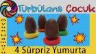 4 Adet Kinder Sürpriz Yumurta Açıyoruz | Türbulans Çocuk | 4 Kinder Surprise Eggs Unboxing