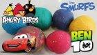 Oyun Hamurundan Sürpriz Yumurta Oyuncak Ben10 Şirinler Angry Birds Şimşek Mcqueen Oyun Hamuru TV