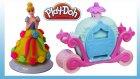 Play Doh Sindirella Oyun Hamuru Seti  Prenses Balo Arabası Elbise Giydirme Tasarımı Oyunu