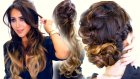 2  Spring BRAID Hairstyles | Cute Half-Updo & Messy Bun Hairstyle