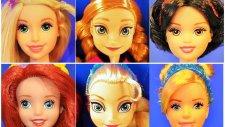 Disney Prensesler - Barbie oyuncak bebek Rapunzel,Sindirella,Pamuk Prenses,Ariel,Aurora - EvcilikTV