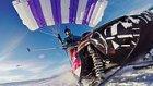 Kar Motoru ve Paraşütü Birleştirerek Uçan Adam
