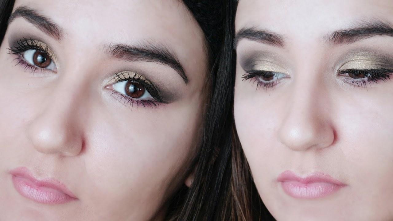 Altın Dore Rengi Göz Makyajı Modelleri 2019