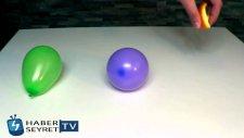 Şişirilmiş Bir Balona Portakal Kabuğu Sıkılırsa Ne Olur