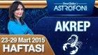 AKREP burcu haftalık yorumu 23-29 Mart 2015