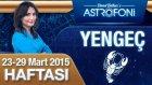 YENGEÇ burcu haftalık yorumu 23-29 Mart 2015