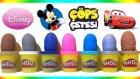 Oyun Hamuru Sürpriz Yumurtalar Disney Prensesler, Cars 2, Çöps Çetesi, Mickey Mouse Oyuncakları