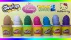 Oyun Hamuru Sürpriz Yumurtalar: Shopkins, Rapunzel, Hello Kitty, PacMan, Cars ve Aslan Kral Oyuncak