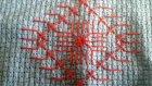 Kanaviçe Etamin Seccade Çiçek Kenarı Yapımı