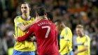 Cristiano Ronaldo ve Ibrahimovic kapışması