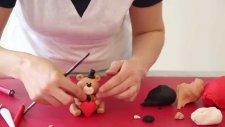 Tatlı Bir Dakika - Şeker Hamuru ile ayıcık modelleme