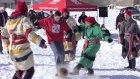 Kar Üzerinde Doyasıya Futbol Oynadılar