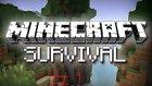Mİnecraft Survival #1 ACIMDAN ÖLÜYOM!!!
