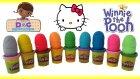 Oyun Hamurundan Sürpriz Yumurtalar Hello Kitty Doktor Dottie Winnie the Pooh 9 Oyuncak Yumurta