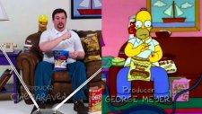 Abur Cuburları Birebir Homer Simpson Gibi Hüpleten Adam