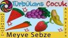 Oyun Hamurundan Meyve ve Sebzeler | Türbülans Çocuk | Play Doh Fruits and Vegetables