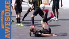 Futbol Topuyla Fizik kurallarını Zorlayan Hareketler!