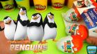 3 Kinder Sürpriz Yumurta Açımı Madagaskar Penguenleri Oyuncak Serisi