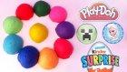 Oyun Hamurundan 10 Sürpriz Oyuncaklı Yumurta! Karlar Ülkesi Minecraft Kinder Oyuncakları