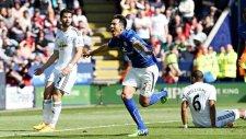 Leicester 2-0 Swansea -  Maç Özeti (18.4.2015)
