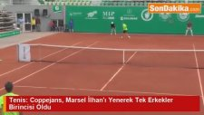 Tenis: Coppejans, Marsel İlhan'ı Yenerek Tek Erkekler Birincisi Oldu